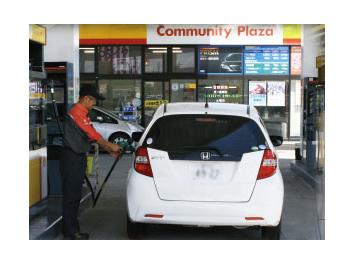 ガソリンスタンドでの業務 イメージ